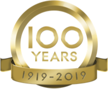 100 year anniversary from 1919 to 2019